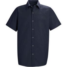 Red Kap® Men's Specialized Pocketless Polyester Work Shirt Short Sleeve Navy M SP26