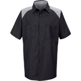 Red Kap® Men's Motorsports Shirt Short Sleeve 4XL Silver/Black SP28