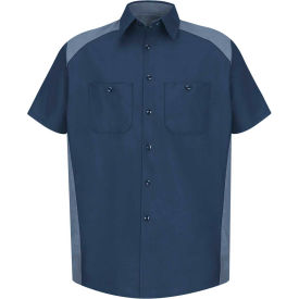 Red Kap® Men's Motorsports Shirt Short Sleeve 5XL Navy/Postman Blue SP28