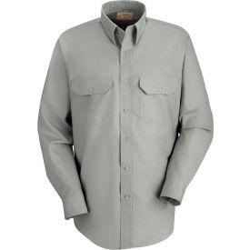 Red Kap® Men's Solid Dress Uniform Shirt Long Sleeve Light Gray 3XL-345 SP50