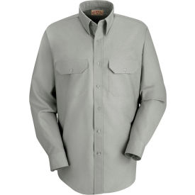 Red Kap® Men's Solid Dress Uniform Shirt Long Sleeve Light Gray L-345 SP50