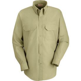 Red Kap® Men's Solid Dress Uniform Shirt Long Sleeve Light Tan 3XL-367 SP50