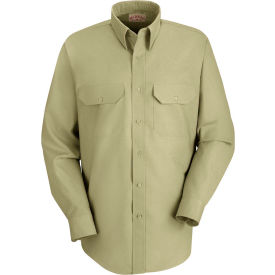 Red Kap® Men's Solid Dress Uniform Shirt Long Sleeve Light Tan XL-323 SP50