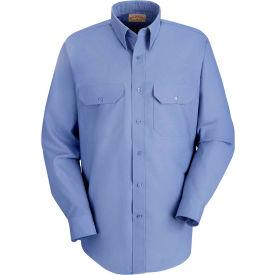 Red Kap® Men's Solid Dress Uniform Shirt Long Sleeve Petrol Blue 2XL-323 SP50