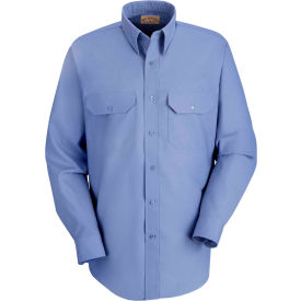 Red Kap® Men's Solid Dress Uniform Shirt Long Sleeve Petrol Blue 2XL-367 SP50