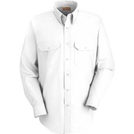 Red Kap® Men's Solid Dress Uniform Shirt Long Sleeve White 2XL-345 SP50