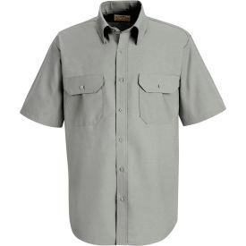 Red Kap® Men's Solid Dress Uniform Shirt Short Sleeve Light Gray S SP60