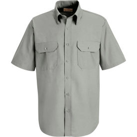 Red Kap® Men's Solid Dress Uniform Shirt Short Sleeve Light Gray 2XL SP60