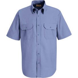 Red Kap® Men's Solid Dress Uniform Shirt Short Sleeve Petrol Blue M SP60