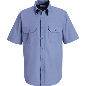 Red Kap® Men's Solid Dress Uniform Shirt Short Sleeve Petrol Blue 2XL SP60