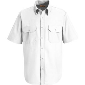 Red Kap® Men's Solid Dress Uniform Shirt Short Sleeve White M SP60
