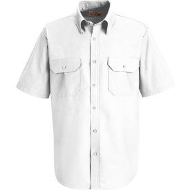 Red Kap® Men's Solid Dress Uniform Shirt Short Sleeve White XL SP60