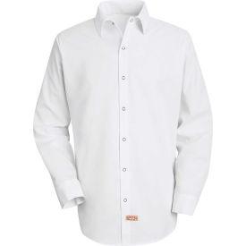 Red Kap® Men's Specialized Pocketless Polyester Work Shirt Long Sleeve White Regular-S SS16