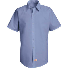 Red Kap® Men's Specialized Pocketless Polyester Work Shirt Short Sleeve Medium Blue S SS26