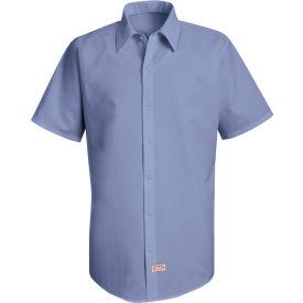 Red Kap® Men's Specialized Pocketless Polyester Work Shirt Short Sleeve Medium Blue 2XL SS26
