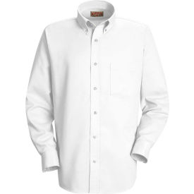Red Kap® Men's Long Sleeve Easy Care Dress Shirt White XL345 - SS36