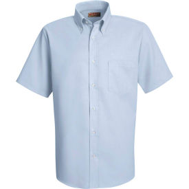 Red Kap® Men's Short Sleeve Easy Care Dress Shirt Light Blue L - SS46
