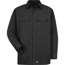 Red Kap® Men's Utility Uniform Shirt Long Sleeve Black Long-XL ST52