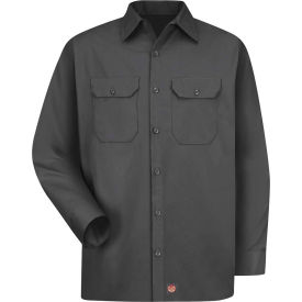 Red Kap® Men's Utility Uniform Shirt Long Sleeve Charcoal Regular-2XL ST52