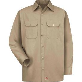 Red Kap® Men's Utility Uniform Shirt Long Sleeve Khaki Regular-S ST52