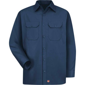 Red Kap® Men's Utility Uniform Shirt Long Sleeve Navy Regular-S ST52