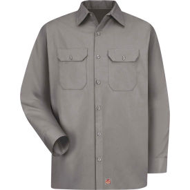 Red Kap® Men's Utility Uniform Shirt Long Sleeve Silver Long-XL ST52