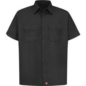 Red Kap® Men's Utility Uniform Shirt Short Sleeve Black 2XL ST62