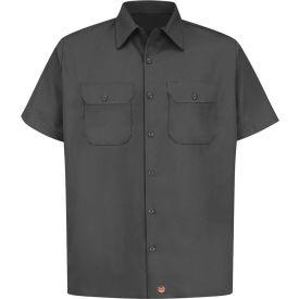 Red Kap® Men's Utility Uniform Shirt Short Sleeve Charcoal 4XL ST62