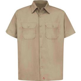 Red Kap® Men's Utility Uniform Shirt Short Sleeve Khaki XL ST62