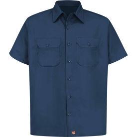 Red Kap® Men's Utility Uniform Shirt Short Sleeve Navy XL ST62