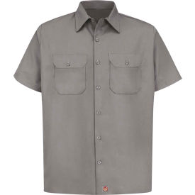 Red Kap® Men's Utility Uniform Shirt Short Sleeve Silver S ST62