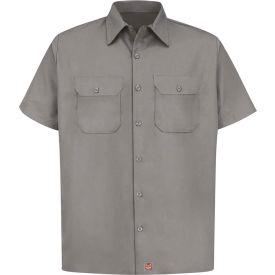 Red Kap® Men's Utility Uniform Shirt Short Sleeve Silver XL ST62