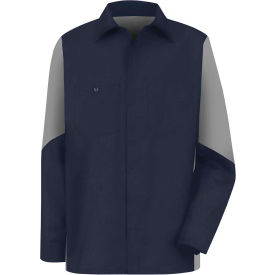 Red Kap® Men's Crew Shirt Long Sleeve Regular-L Navy/Gray SY10
