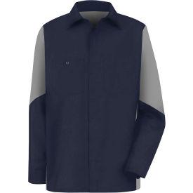Red Kap® Men's Crew Shirt Long Sleeve Regular-S Navy/Gray SY10