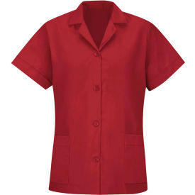 Red Kap® Women's Smock Loose Fit Short Sleeve Red XL - TP23