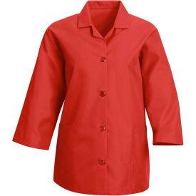 Red Kap® Women's Smock 3/4 Sleeve Red Regular-2XL - TP31
