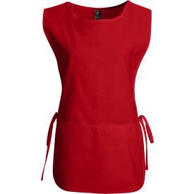 Chef Designs Cobbler Apron, Red, Polyester/Cotton, L