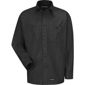 Wrangler® Men's Canvas Long Sleeve Work Shirt Charcoal Regular-4XL-WS10CHRG4XL