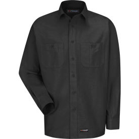 Wrangler® Men's Canvas Long Sleeve Work Shirt Charcoal Regular-S-WS10CHRGS
