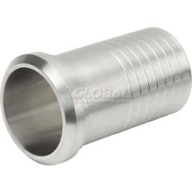 """VNE 3A Series 1"""" Rubber Hose Adapter, 304/316L Stainless, Plain Bevel Ferrule Connection"""