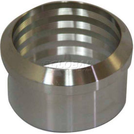 "VNE 3A Series 2-1/2"" Roll-On Ferrule, 304/316L Stainless, Plain Bevel Ferrule Connection"