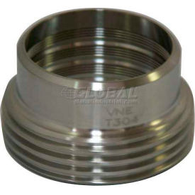 """VNE 3A Series 2-1/2"""" Recessed Ferrule, 304/316L Stainless, Threaded Bevel Ferrule Connection"""