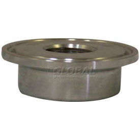 "VNE 3A Series 3/4"", FNPT 3"" Thermometer Cap, 304/316L Stainless, Plain Bevel Ferrule Connection"