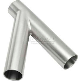 VNE E28WA1.5 3A Series 1-1/2 45 Degree Lateral Wye, 304/T316L Stainless, Weld