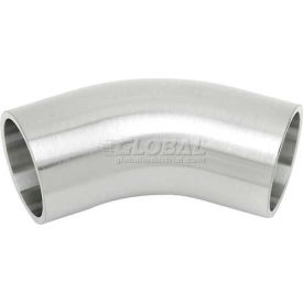 VNE E2KS-6L2.5 3A Series 2-1/2 45 Degree Elbow W/Tangents, 304/T316L Stainless, Weld