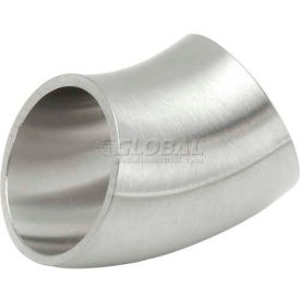 VNE E2WK1.5 3A Series 1-1/2 45 Degree Elbow, 304/T316L Stainless, Weld
