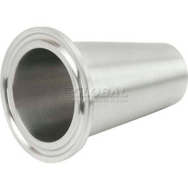 VNE E31CW2.0 x 1.5 3A Series 2 x 1-1/2 Concentric Reducer, 304/T316L Stainless, Clamp x Weld