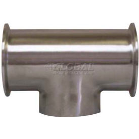 VNE E7CCW-6L1.5 3A Series 1-1/2 Tee, 304/T316L Stainless, Clamp x Clamp x Weld