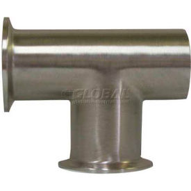VNE E7WCC-6L2.0 3A Series 2 Tee, 304/T316L Stainless, Weld x Clamp x Clamp