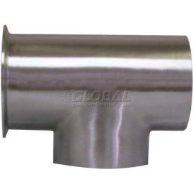 VNE E7WCW1.5 3A Series 1-1/2 Tee, 304/T316L Stainless, Weld x Clamp x Weld